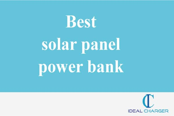 Best solar panel power bank