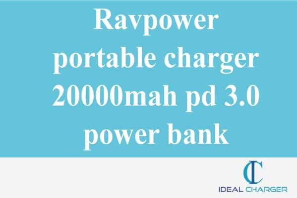 Ravpower portable charger 20000mah pd 3.0 power bank